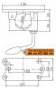 Хомут (зажим) для крепления опорного колеса 150 кг 1