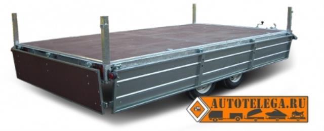 Прицеп ЛАВ-81013Д для перевозки грузов и техники (кузов 3550х2260)