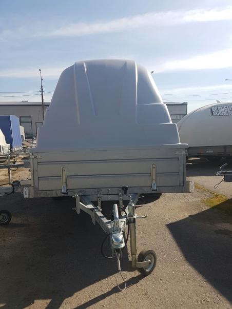 Прицеп ЛАВ-81012А с  крышкой Jaxal черный и белый цвет 81012A